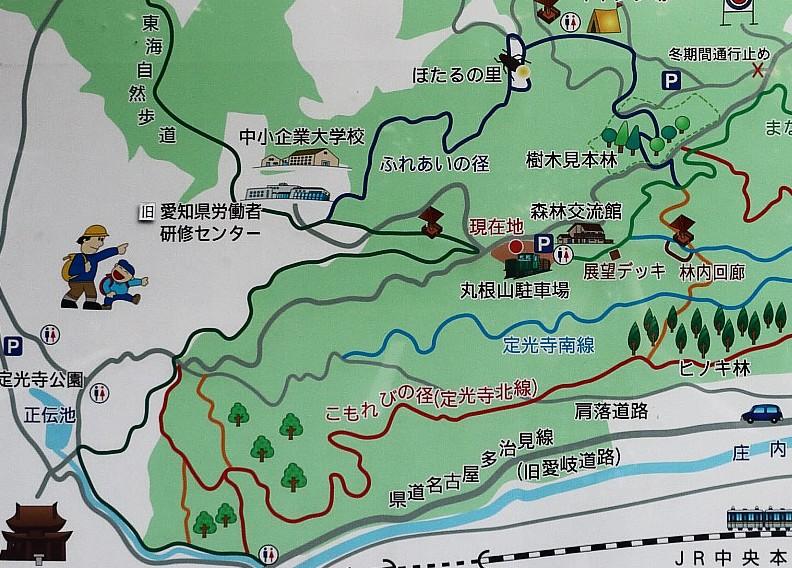 定光寺 ほたるの里 地図