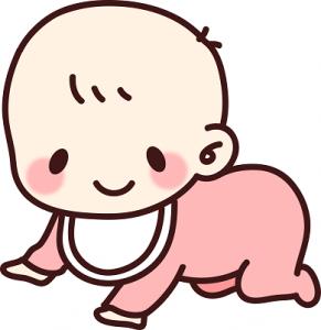 赤ちゃん はいはい イラスト