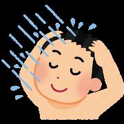 シャワーを浴びる子供 イラスト