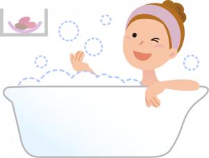 お風呂 女性 イラスト