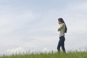 女性 散歩