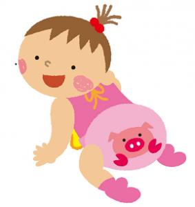 赤ちゃん 女の子 イラスト