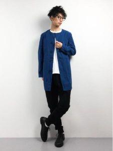 男性 服装 カジュアル ノーカラージャケット