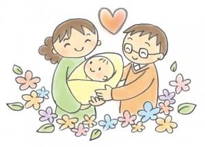 ママ パパ 赤ちゃん イラスト