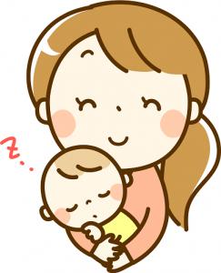 ママ 寝る赤ちゃん