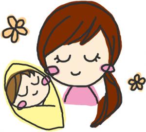 赤ちゃん ママ 睡眠 イラスト