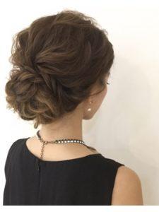髪型 ロング アップスタイル