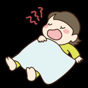 口を開けて寝る女性 イラスト