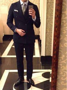 男性 服装 ダブルスーツ コーデ