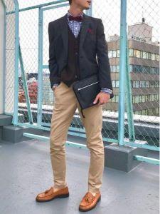 男性 服装 カジュアル チノパン ジャケット