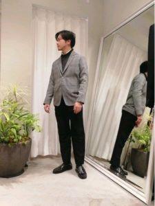 男性 服装 ジャケットスタイル シンプル
