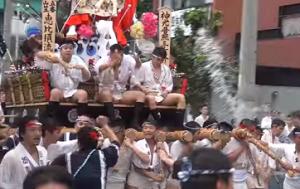 博多祇園山笠 流舁き