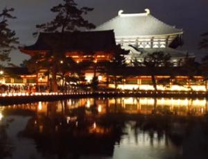 奈良燈花会 東大寺鏡池