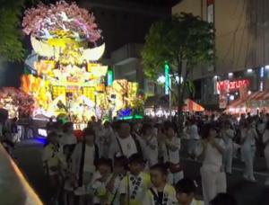 八戸三社大祭 ライトアップ 山車