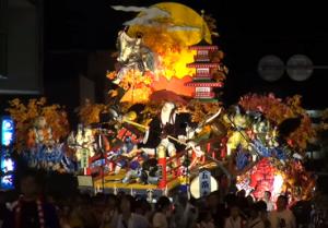 八戸三社大祭 山車 ライトアップ