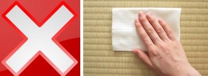 ばつ印 畳拭き