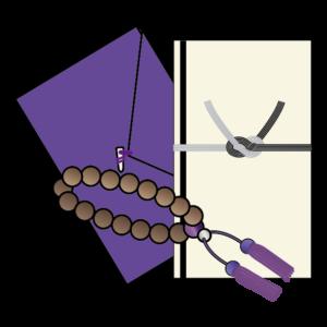 香典袋 袱紗 数珠 イラスト