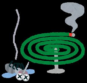 蚊取り線香 蚊 イラスト