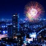 日本 夜景 花火
