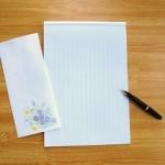 お中元のお礼状の書き方例文。ビジネスや個人のハガキ書式。