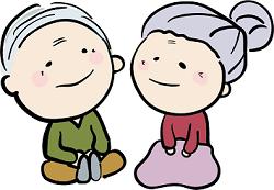 老人 夫婦