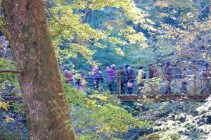 山 橋 登山客