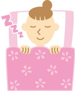 女性 寝る イラスト