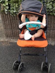 ベビーカー 赤ちゃん 日よけ