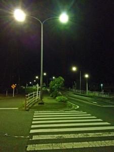 夜道 街灯