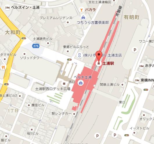 土浦キララ祭り 地図