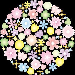 花 円 イラスト
