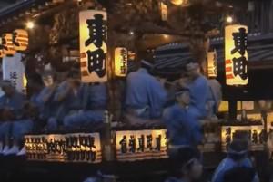 成田祇園祭 山車 ライトアップ
