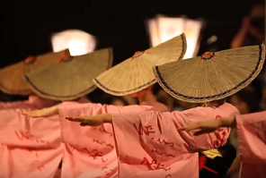 おわら風の盆 踊り子の女性たち