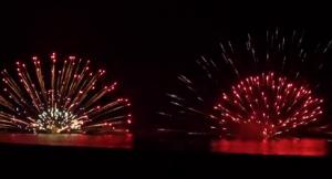 熊野大花火大会 海上自爆