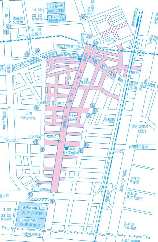 大牟田大蛇山祭り 交通規制図