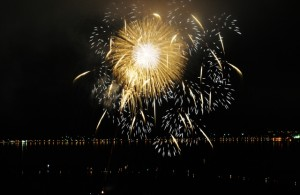 諏訪湖花火大会 打ち上げ花火