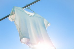 白いTシャツ 干す 太陽