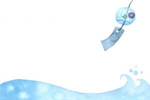 風鈴と波 イラスト