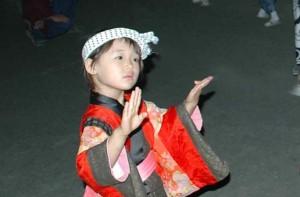 西馬音内盆踊り 子供