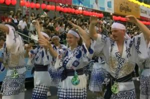 徳島阿波踊り 外国人