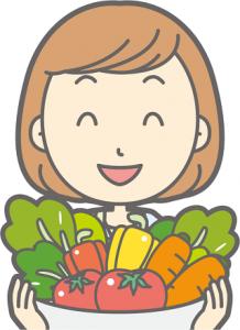 女性 野菜