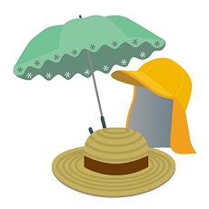 帽子 日傘