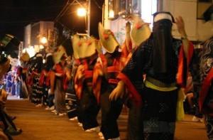 西馬音内盆踊り 夜