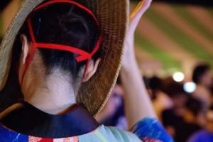 西馬音内盆踊り 踊る女性