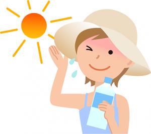 夏 太陽 女性