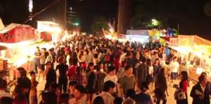 福岡 筥崎宮 放生会 屋台 たくさんの人々