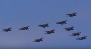 小松基地航空祭 編隊飛行 F-15J