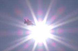 小松基地航空祭り 太陽の光と機体