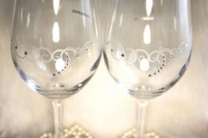 ペアのワイングラス