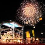 デカンショ祭2017の日程。花火絶景スポットや夜店の時間は?